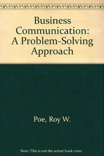 9781561183135: Business Communication: A Problem-Solving Approach