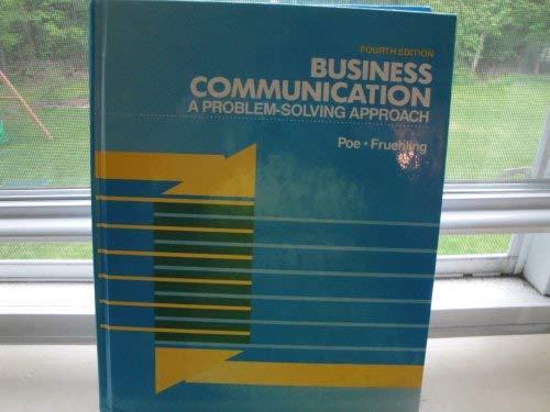 9781561183173: Business Communication: A Problem-Solving Approach