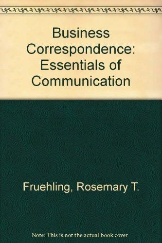 9781561184750: Business Correspondence: Essentials of Communication