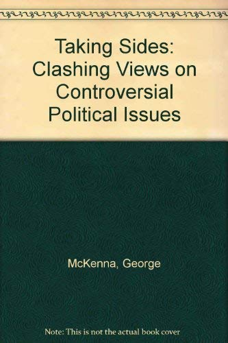 9781561343225: Taking Sides: Clashing Views on Controversial Political Issues