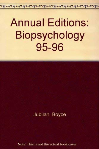 9781561343362: Annual Editions: Biopsychology 95-96
