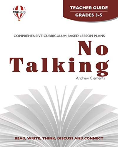 9781561379804: No Talking - Teacher Guide by Novel Units