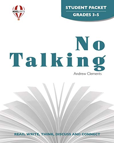 9781561379811: No Talking - Student Packet by Novel Units, Inc.