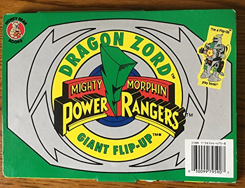 Dragon Zord Giant Flip Up Play Book Mighty Morphin Power Rangers
