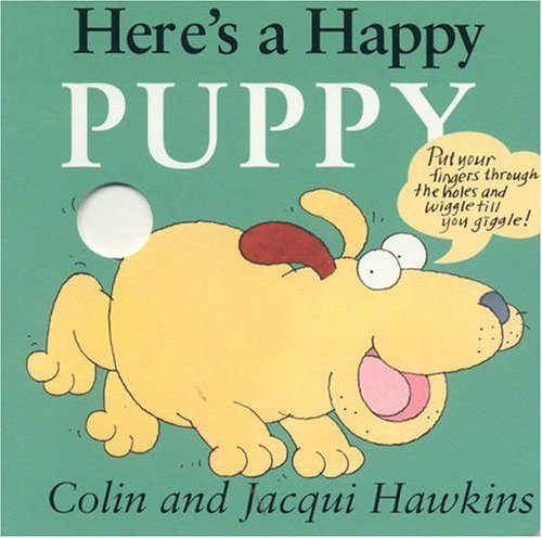 9781561484393: Here's a Happy Puppy: Finger Wiggle Board Book