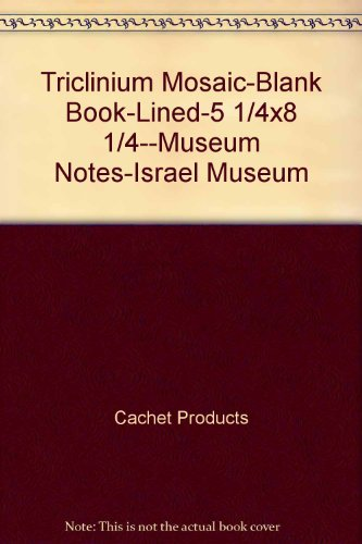 Triclinium Mosaic-Blank Book-Lined-5 1/4x8 1/4--Museum Notes-Israel Museum: Cachet Products