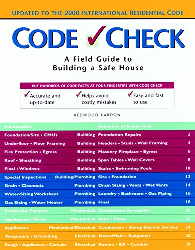 9781561582792: Code Check: A Field Guide to Building a Safe House (Code Check: An Illustrated Guide to Building a Safe House)