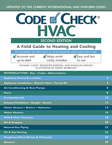 Code Check HVAC: An Illustrated Guide to Heating and Cooling: Kardon, Redwood, Casey, Michael, ...