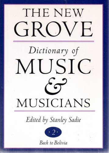 9781561591749: The New Grove Dictionary of Music and Musicians