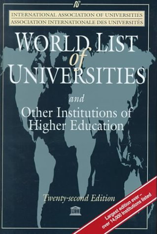 9781561592739: World List of Universities: And Other Institutions of Higher Education (World List of Universities, 22nd ed)