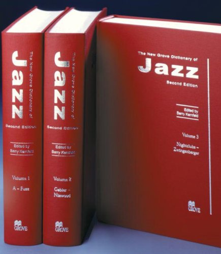 9781561592845: The New Grove Dictionary of Jazz(3 Volume Set)