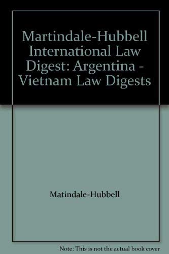 9781561604180: Martindale-Hubbell International Law Digest