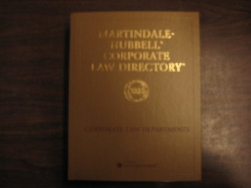 9781561605842: Martindale-Hubbell Corporate Law Directory 2003, Corporate Law Departments, Practice Profiles, Professional Biographies, One Hundred Thirty-Fifth Year (2003)