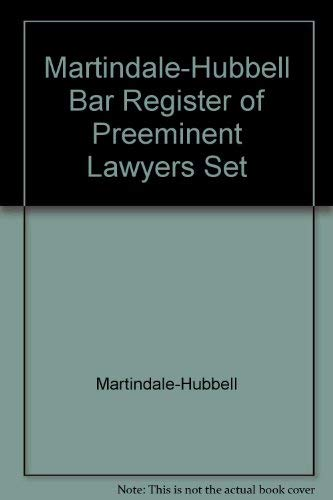 9781561605927: Martindale-Hubbell Bar Register of Preeminent Lawyers Set