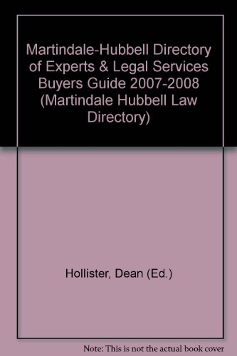 Martindale-Hubbell Directory of Experts & Legal Services: Hollister, Dean (Ed.)