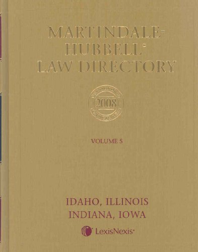 Martindale Hubbell Law Directory 2008: ILLINOIS (Martindale Hubbell Law Directory Illinois): Not ...