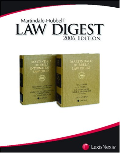 9781561608874: Martindale-Hubbell Law Digest: China