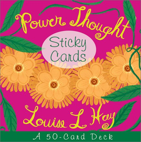 9781561709625: Power Thought Sticky Cards (Beautiful Card Deck)