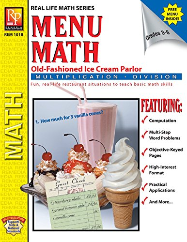 Menu-Math The Old-Fashioned Ice Cream Parlor Book