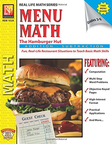 Menu Math: The Hamburger Hut Addition And