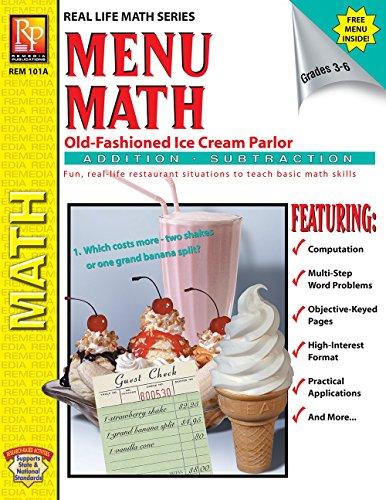 Menu Math (Old Fashioned Ice Cream Parlor): Barbara Johnson; Kitty