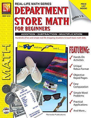 9781561751839: Department Store Math For Beginners: Addition / Subtraction / Multiplication, Grades 1-3 (Real Life Math series)