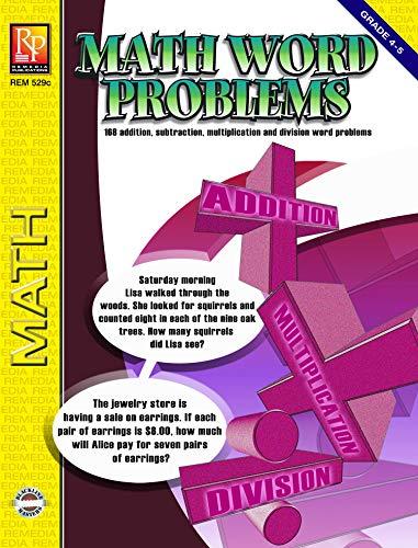 9781561755110: Math Word Problems (Grades 4-5) | Reproducible Activity Book