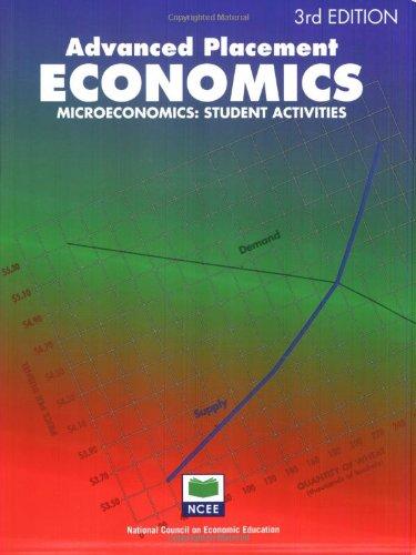 9781561835683: Advanced Placement Economics: Microeconomics: Student Activities