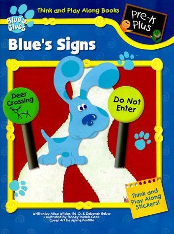 9781561890668: Blue's Signs with Stencils (Think and Play Along Workbooks)