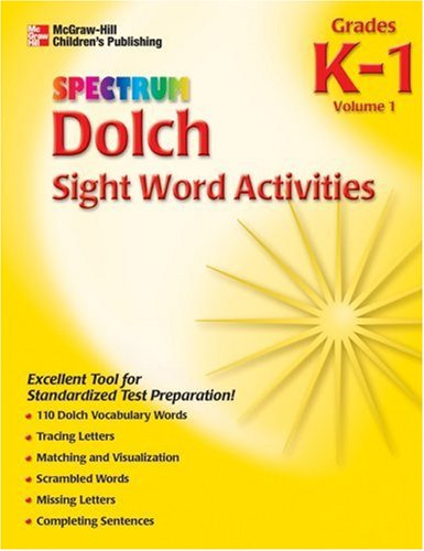 9781561899173: Spectrum Dolch Sight Word Activities, Volume 1