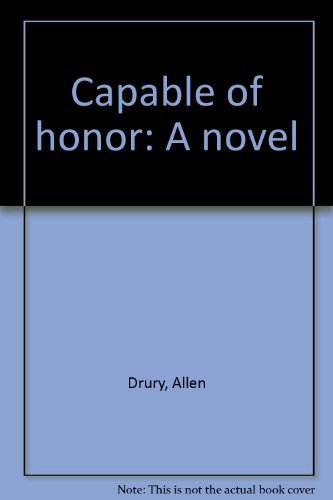 9781562080020: Capable of honor: A novel