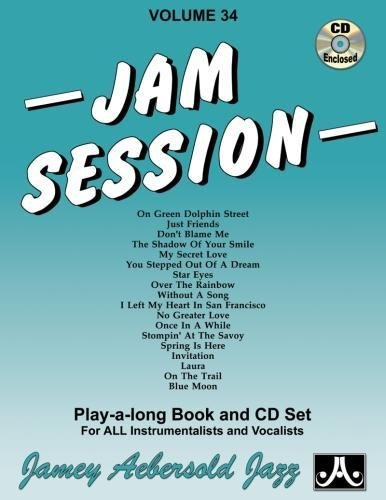 9781562241926: Vol. 34, Jam Session (Book & CD Set) (Jazz Play-A-Long for All Instrumentalists and Vocalists)