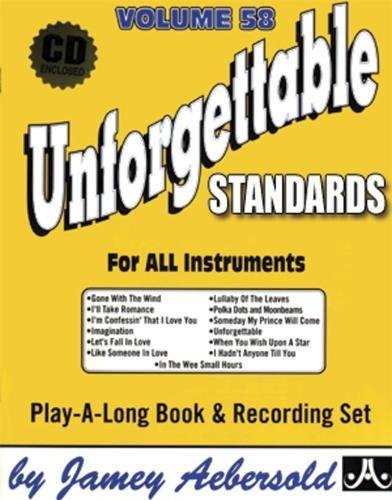 9781562242169: Vol. 58, Unforgettable - Standards (Book & CD Set) (Jazz Play-a-Long)