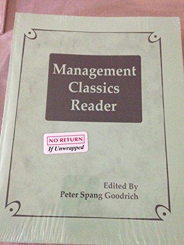 9781562265151: Management Classics Reader