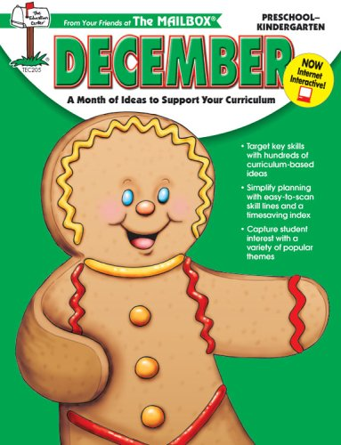 9781562341343: December: A Month of Ideas to Support Your Curriculum for Preschool-Kindergarten