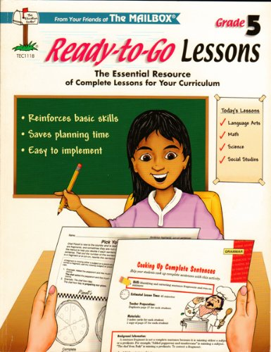 9781562345020: Ready-to-Go Lessons Grade 5