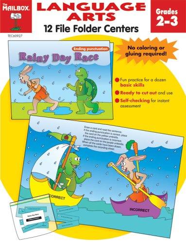 9781562346355: File Folder Centers Language Arts Grades 2-3