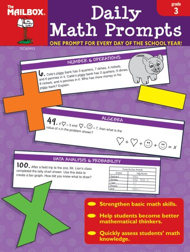 9781562346485: Daily Math Prompts (Gr. 3)