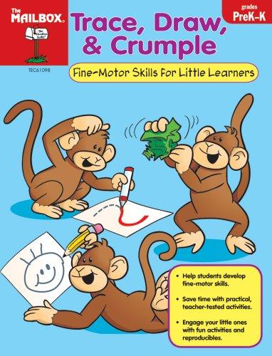 9781562347543: Trace, Draw, & Crumple (PreK-K)