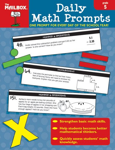 9781562347734: Daily Math Prompts (Gr. 5)