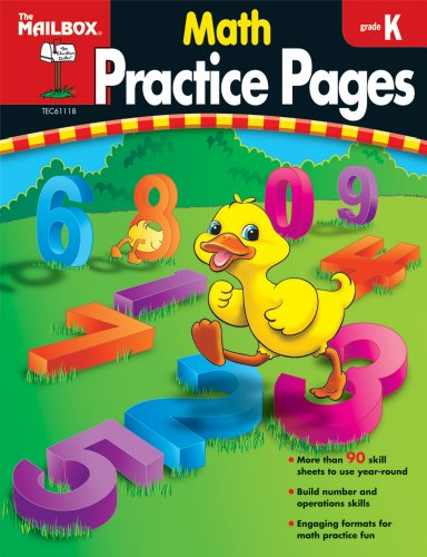 9781562347925: Math Practice Pages (Gr. K)
