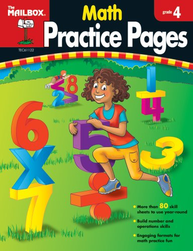 9781562347963: Math Practice Pages (Gr. 4) by The Mailbox Books Staff (2008-01-01)