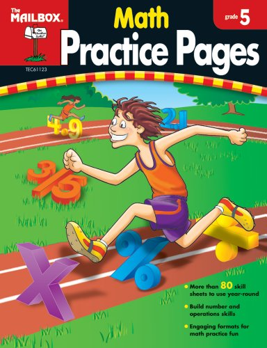 9781562347970: Math Practice Pages (Gr. 5)