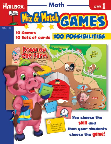 9781562348038: Mix & Match Games: Math (Gr. 1)