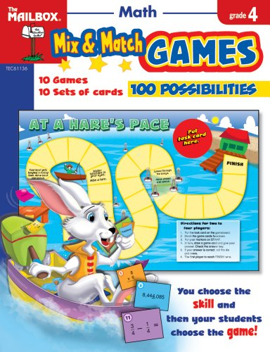 9781562348090: Mix & Match Games: Math (Gr. 4)