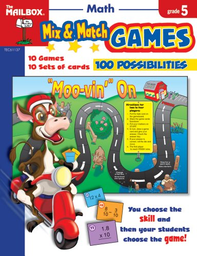 9781562348113: Mix & Match Games: Math (Gr. 5)
