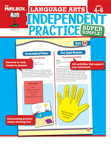 Super Simple Independent Practice: Language Arts (Grs. 4-6) (1562348426) by The Mailbox Books Staff