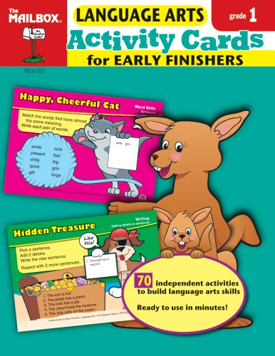 9781562348861: Activity Cards for Early Finishers: Language Arts (Gr. 1)