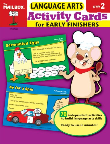 9781562348878: Activity Cards for Early Finishers: Language Arts (Gr. 2)