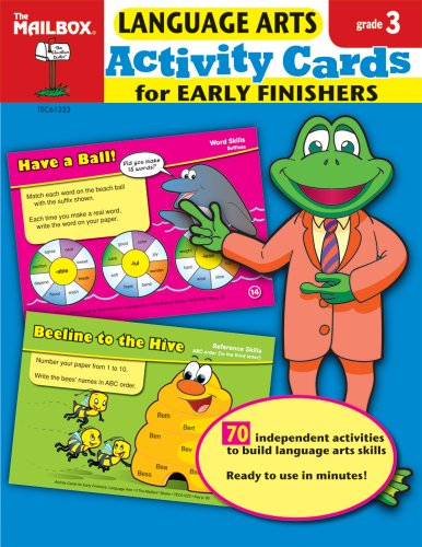 9781562348885: Activity Cards for Early Finishers: Language Arts (Gr. 3)